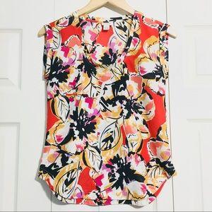 J. Crew Tropical Floral Blouse Shirt